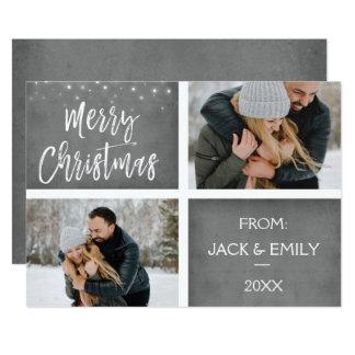 Neve do Feliz Natal ou cartão com fotos do floco