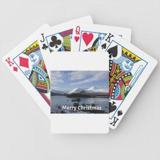 Neve do Natal na montagem preta, Scotland Jogos De Cartas