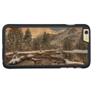 Neve do primavera, serra Nevada, CA Capa Para iPhone 6 Plus De Carvalho, Carved®