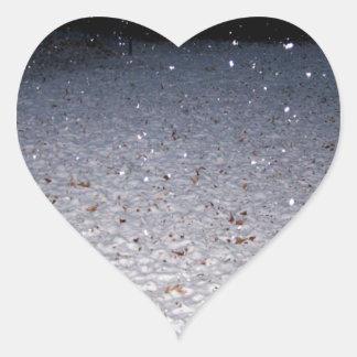 Neve do sul adesivos de corações