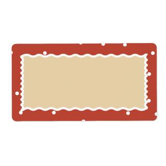 Neve do tijolo Tag do presente de muitos biscoitos Etiqueta De Frete