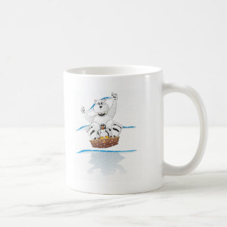 Neve do urso polar do pinguim caneca de café