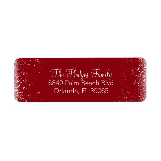 Neve e etiqueta de endereço do remetente vermelha