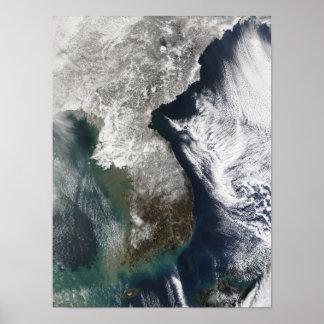 Neve em Coreia Impressão