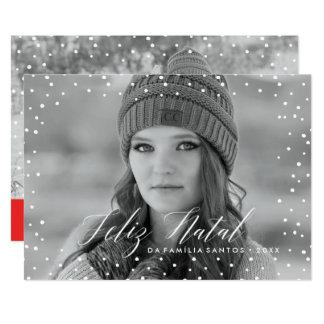 Neve faz | natal Cartão de Natal Convite 12.7 X 17.78cm