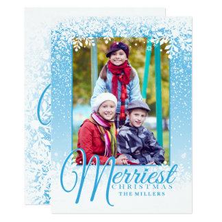 Neve macia, os cartões de foto de Natal os mais
