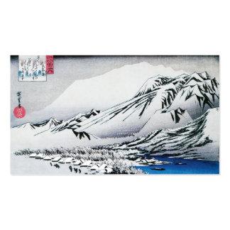 Neve na montagem Hira, Japão. Cerca de 1834-35 Cartão De Visita