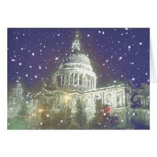 Neve na rua Pauls Cartão Comemorativo