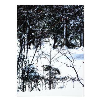 Neve nas madeiras convite 13.97 x 19.05cm