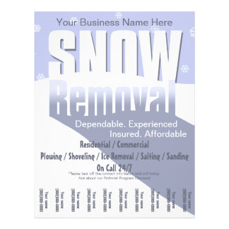 Neve que ara o serviço Negócio da remoção Panfleto Personalizado