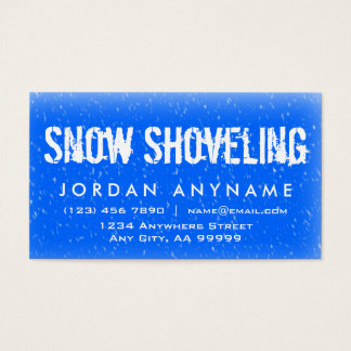Neve que trabalha com pá o cartão de visita de