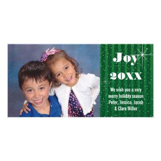 Neve verde das listras - cartões de foto de Natal