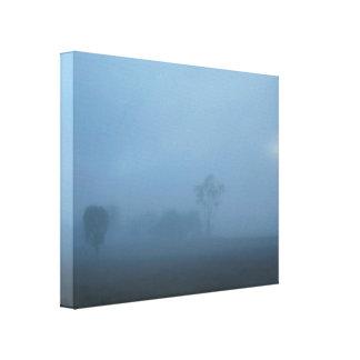 Névoa azul impressão esticado das canvas impressão em canvas