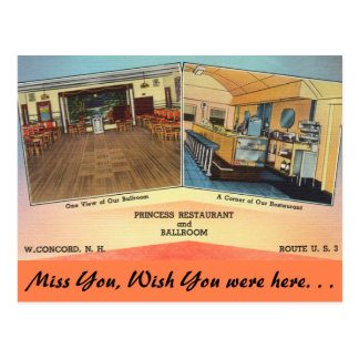 New Hampshire, princesa Restaurante, concórdia Cartao Postal