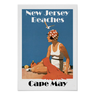 New-jersey encalha o ~ Cape May Pôster