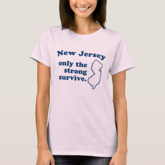New-jersey somente o forte sobrevive à camisa