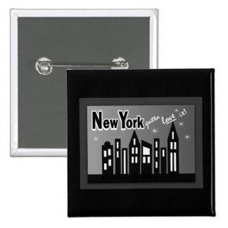 New York--Conseguiu amá-la Com construções bonito Botons