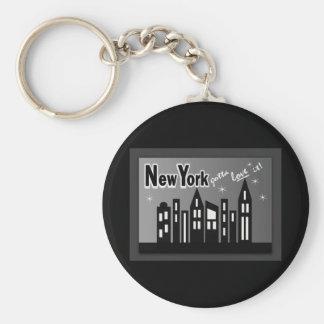 New York--Conseguiu amá-la! Com construções bonito Chaveiro