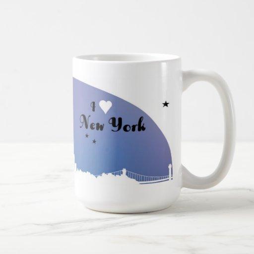 """""""New York"""" """"eu amo New York"""" NY """"que eu amo NY """" Canecas"""