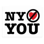New York não o ama paródia ny do amor de i Cartoes Postais