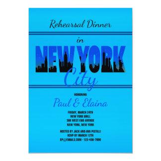New York no convite azul
