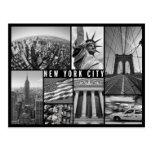 New York preto e branco Cartão Postal