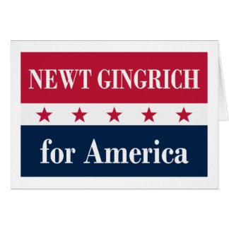 Newt Gingrich para América Cartão