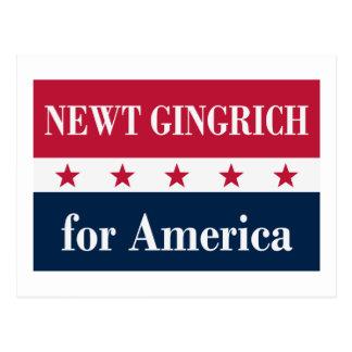Newt Gingrich para América Cartão Postal