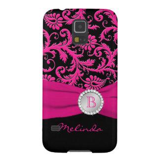 Nexo de prata preto cor-de-rosa de Samsung do Capas Par Galaxy S5