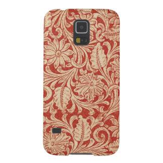 Nexo vermelho floral da galáxia de Samsung do Capinhas Galaxy S5
