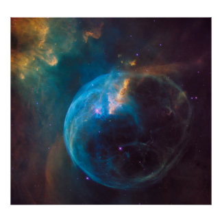NGC 7635 - A nebulosa da bolha Pôster
