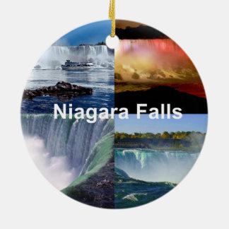 Niagara Falls New York Ornamento De Cerâmica Redondo