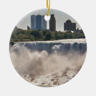 Niagara Falls Ornamento De Cerâmica Redondo