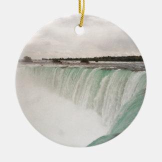 Niagara Ornamento De Cerâmica Redondo