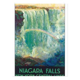 Niagra cai trabalhos de arte do poster das viagens cartão postal