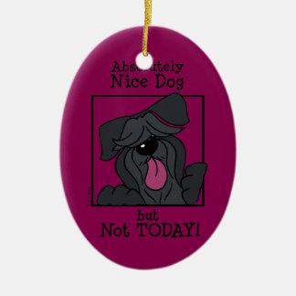 Nice dog - not but today ornamento de cerâmica oval