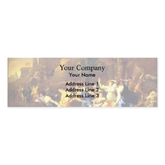 Nicolas Poussin- a economia do Pyrrhus infantil Cartoes De Visitas
