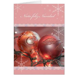 Nieta Feliz Navidad Cartão