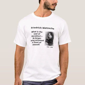Nietzsche, já não humilhado camiseta