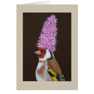 Nigel o cartão europeu do goldfinch
