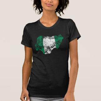 Nigéria afligiu a bandeira camisetas