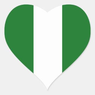 Nigéria Adesivo Em Forma De Coração