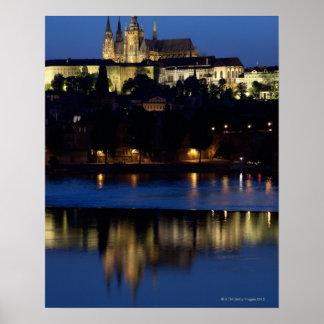 Nighttime em Praga, república checa Poster
