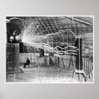 Nikola Tesla, 1899. De alta resolução Pôster