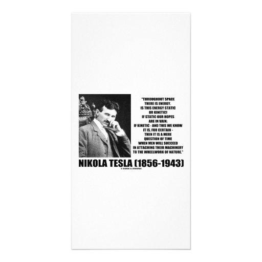 Nikola Tesla Wheelwork da energia cinética da natu Cartao Com Foto