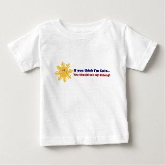 Ninang bonito camiseta para bebê