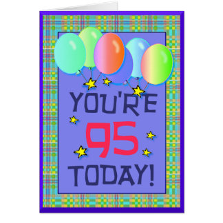 Ninety-quinto cartão de aniversário