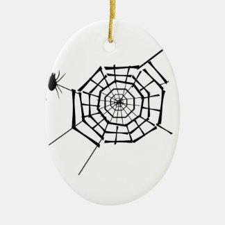 ninho da aranha ornamento de cerâmica