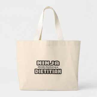 Ninja disfarçado inteligente como uma dietista bolsa para compras