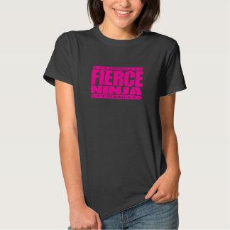 NINJA FEROZES - Um guerreiro atlético sem medo do T-shirt